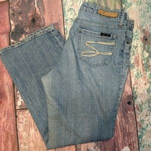 Seven for all Mankind size 16 flare jeans light